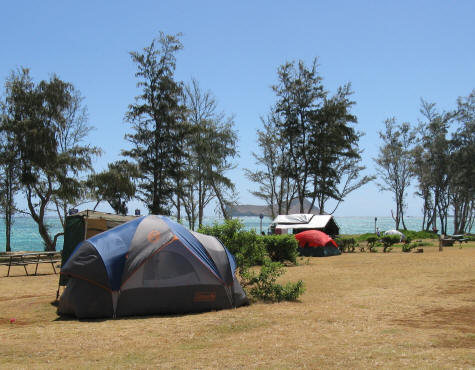 Camping on the Island of Oahu