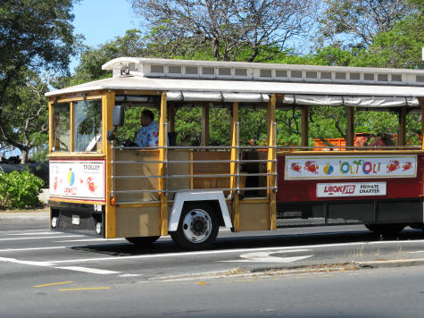 Trolley Bus Service in Honolulu and Waikiki, Oahu Hawaii